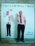 Thatand039s The Way I See It By David Hockney Book Hand-signed Personal Copy