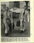 1974 Press Photo Attorneys Andrew Hall And William Frates At Watergate Trial
