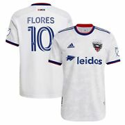 Edison Flores D.c. United Adidas 2021 The Marble Authentic Player Jersey - White