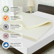 Best 3and039and039 Natural Latex Mattress Topper Dunlop Pure Non+toxic Chemical Cooling
