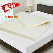 Best 3in Natural Latex Mattress Topper Dunlop Pure Non+toxic Chemical Cooling/