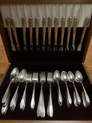 Vintage Wm Rogers And Son Silver Plate Flatware Gardenia 1941 Pattern 300 Pieces+