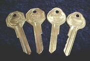 2 Nos Gm Chevy Pontiac Oldsmobile Buick Brass Bands Keys With Knockouts 35 - 66