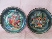 2 Bradex, Russian Fairy Tale Collector Plates 60-v-11 And 12 - Vgc
