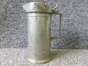 Antique French Pewter Measure Litre Dv Leclerc A Lille Humbert