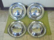 1954 Plymouth Hub Caps 15 Set Of 4 Wheel Covers 54 Hubcaps