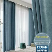 Nordic Style Solid Color Jacquard Blackout Curtain Drape For Living Room Hotel