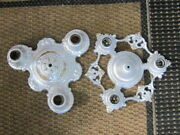 Two Vintage Ceiling Mount Fixtures------art Deco----rewired----riddle Co.