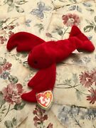 Rare Retired Ty Beanie Baby And039pinchersand039 With Many Errors Mint