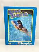 Vintage Inflatable Sevylor Pool Bear Surfer Float Toy For Kids 45andrdquo X 20andrdquo