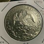 1890 Moam Mexico Silver 8 Reales High Grade Crown