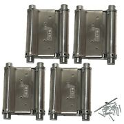 Saloon Door Hinges - Double Acting Cafe Gate Swinging Action   3 Inch 4 Pieces