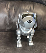 Tekno Interactive Robotic Puppy Dog Silver Vintage 90's Bymanleytoy Quest- Works