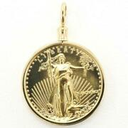 American Dollar Eagle 1 4oz Coin 22k Gold 18k Pendant Top Free Shipping Used