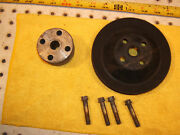 Mercedes 1966 250s 250se Water Pump Fan Metal 1 Pulley / Spacer And Mount 4 Bolts