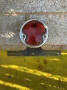 Duolamp Tail Light With License Plate Holder And Hardware Parts Or Repair