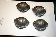 Matched Set Of 4 Antique Cast Iron Corner Covers Parlor Stove Parts. Very Nice
