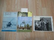 Vtg 1960's Hughes Aircraft Helicopter Brochure Glossy Photo Culver City Calif
