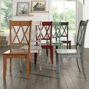 Eleanor X Back Wood Dining Chair Set Of 2 By Inspire Q