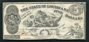 1862 5 The State Of Louisiana Baton Rouge La Obsolete Currency Noteandnbsp