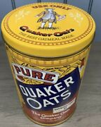 Vintage Ltd. Edition 1984 Quaker Oats Co. Rolled White Oats Tin