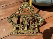 Antique Very Ornate Brass Easel Book Stand Free Shipping Bible Cookbook Music