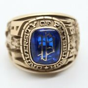 14k Yellow Gold University Of Pittsburgh College Class Ring 22.7 Grams Sz 13.7
