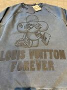 Bnwt Louis Vuitton Vivienne Logo Embroidery Sweater Sold Out Rare 1a46vw Large
