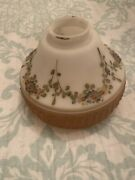 Vintage Hand Painted Frosted Glass Lamp Shade Light Ceiling Globe Embossed