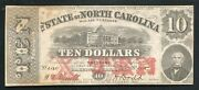 1863 10 The State Of North Carolina Raleigh Nc Obsolete Currency Noteandnbsp