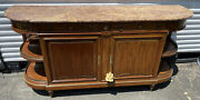 Louis Xvi French Mahogany Marble Top Bronze Mounted Buffet Cabinet