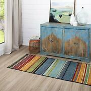 Mohawk Home New Wave Rainbow Stripe Runner Area Rug 2and039x8and039 Assorted Styles