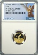 2020 Mo Mexico 1/10 Oz Onza Gold Proof Libertad Ngc Pf 69 Ucam Mintage Of 250