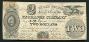 1837 2 United States Foreign And Domestic Exchange Co. Portland, Maine Obsolete