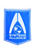 Mass Effect System Alliance Insignia Logo 100 Polyester Banner Flag