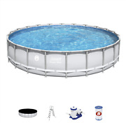 Coleman 22and039 X 52 Power Steel Frame Swimming Pool Set W/ Pump