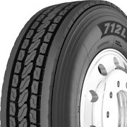 4 New Yokohama 712l 285/75r24.5 Load G 14 Ply Drive Commercial Tires