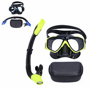 Kid Adult Snorkeling Anti‑fog Goggles Set Diving Glasses With Dry Snorkel Tools