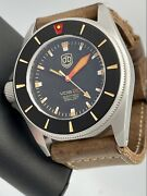 New Vintage Vdb Kampfschwimmer Brushed Nautic Vintage Aqualung 46mm Swiss Auto