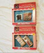 Vtg New Old 1978 Fisher Price Doll House Decorator Set Bunk Beds 259 And 254