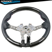 Fits 15-21 Bmw F80 F82 M Sport Steering Wheel Cf And Leather Cover And M Stitching