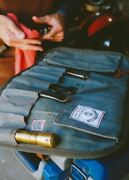 Iron And Resin Great Plains Tool Roll, Waxed Canvas And Leather