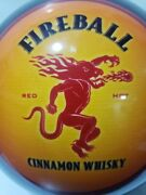 Fireball Whiskey Beer Bowling Ball Vhtf Collectors Item Undrilled 12 Lbs Mancave