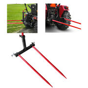 Category 1tractor Trailer Hitch 3 Point Attachment Standard 2x49and039and039 Red Hay Spear
