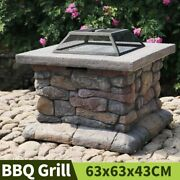 Barbecue Table Outdoor Courtyard Roast Meat Garden Fire Pit Heating Bbq Grills