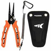 Cutthroat 7 Inch Fishing Pliers, 420 Stainless Steel Fishing 7'' Straight Nose