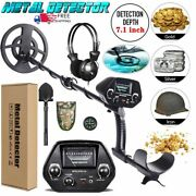 Deep Ground Metal Detector With 8 Inch Waterproof Coil And 3 Accessories Free