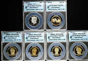 2010-s 14-coin Silver Proof Set Anacs Pr 70 Dcam First Release