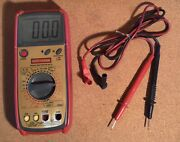 Craftsman Digital Multimeter 82170 Nice Condition Working W/stand, Leads