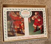 1993 Coca-cola Limited Edition-santa- 2 Decks Playing Cards Still Sealed In Tin